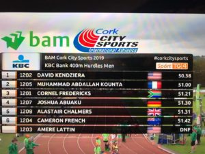 David Kendziera Wins in Cork